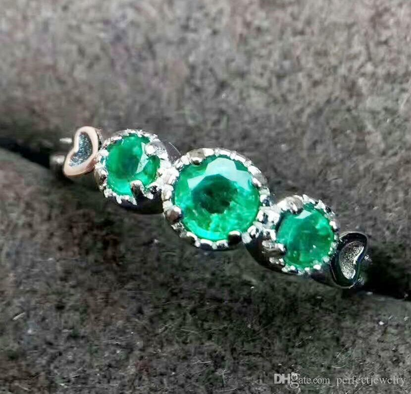 product real sterling gem natural silver stones plated bracelet four women platinum emerald jewellry precious stone