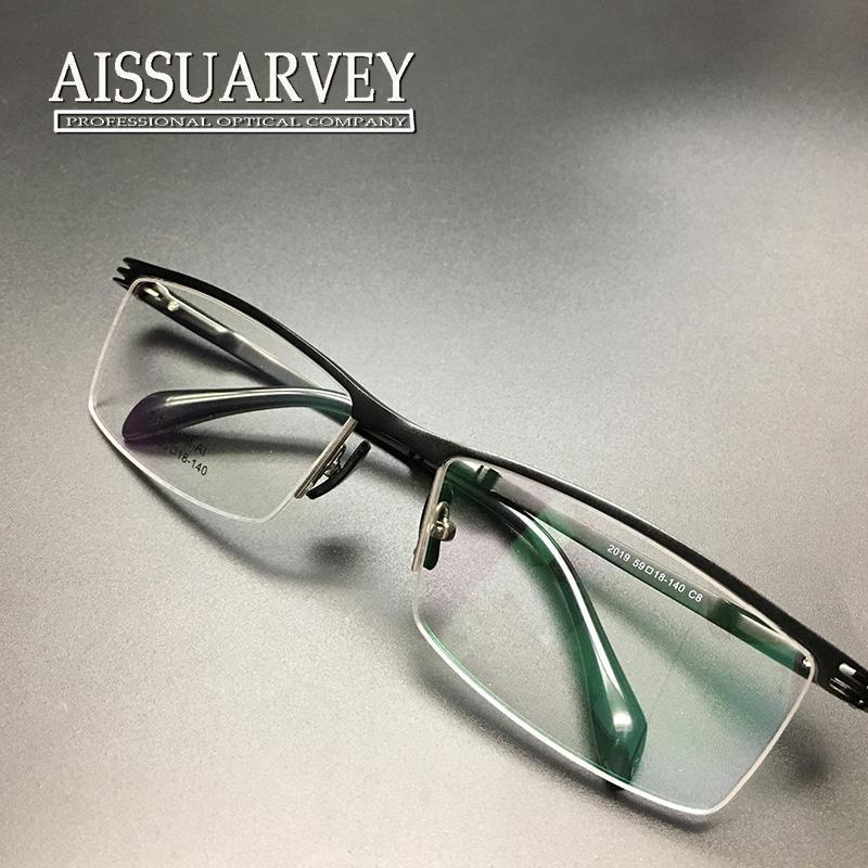 Großhandel Männer Gläser Rahmen Halbe Felge Brillen Optische Rezept ...