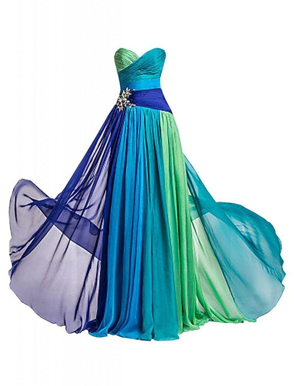 Dormencir® Women\'S Rhinestone Colorful Long Bridesmaid Prom ...