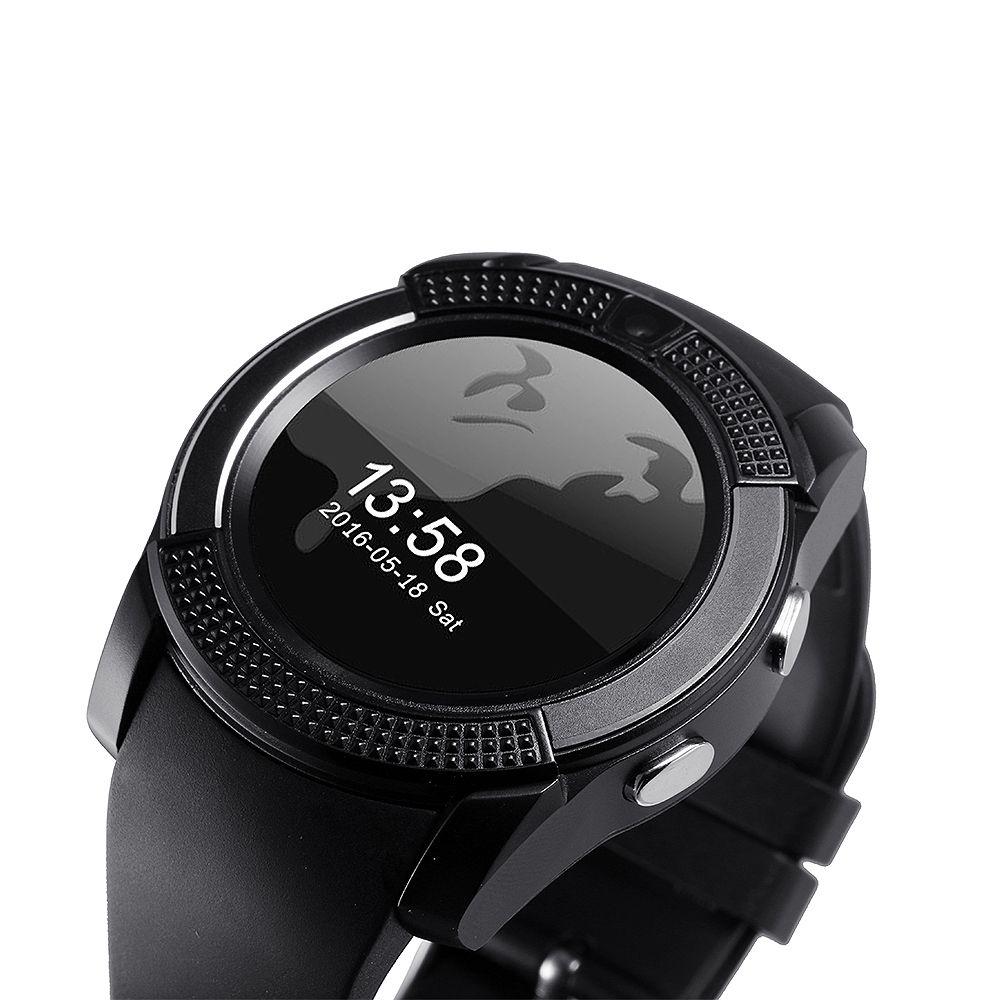 Gute Batterie V8 Smart Watch Großhandelspreise Bluetooth Uhren Android mit 0,3 M Kamera Smartwatch für Android-Handy