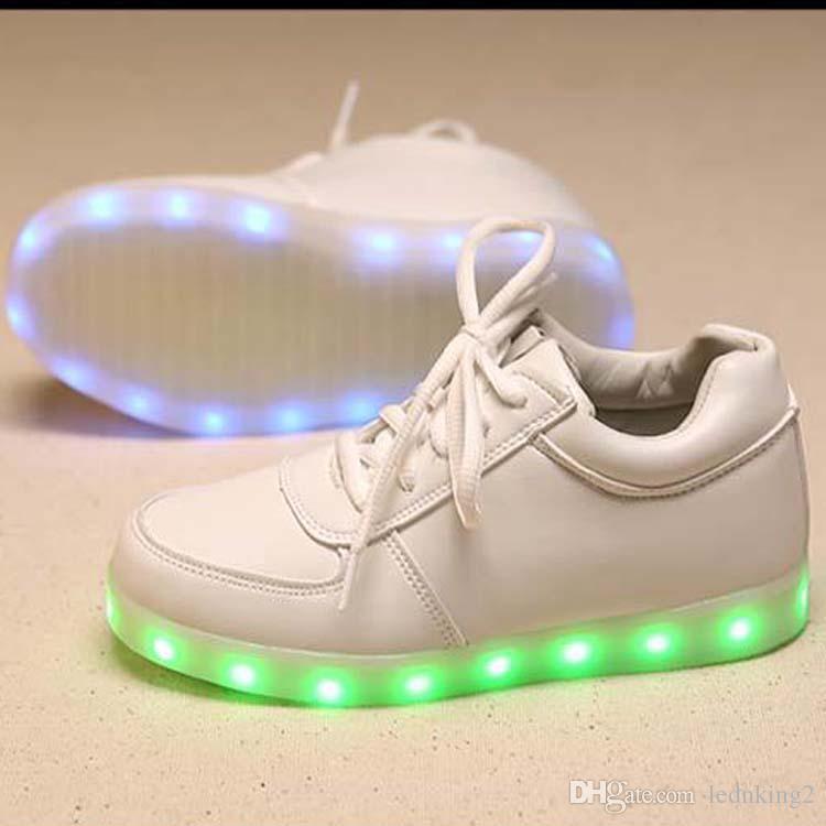 caacc061990 Hot Sale New Fashion Size 35-44 USB LED Light Shoes Men Women ...