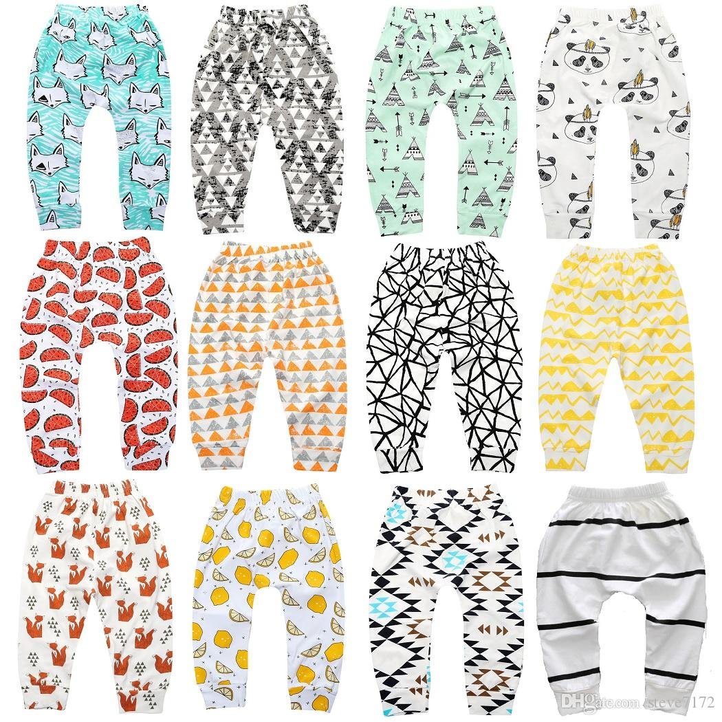 2017 New Baby Pant Full Paint Fashion Baby Boys Trousers Girls Leggings Baby Pp Pants 100% Cotton 0-24Month Infant Clothes Soft 32pcs/lot