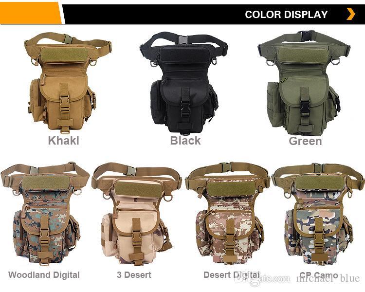 Multifuncional bolsa de muslo al aire libre multi colores bolsas de cintura y pierna Cheap 600D bolsa de cintura táctico de Oxford a prueba de agua