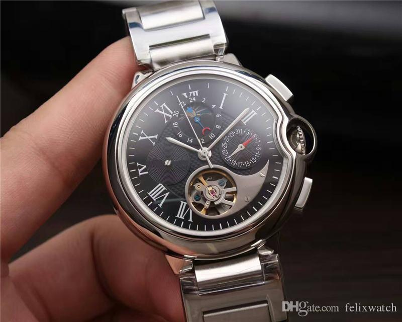 Thermal design brand mens luxury watch high quality automatic movement power storage 316l for Thermal watches