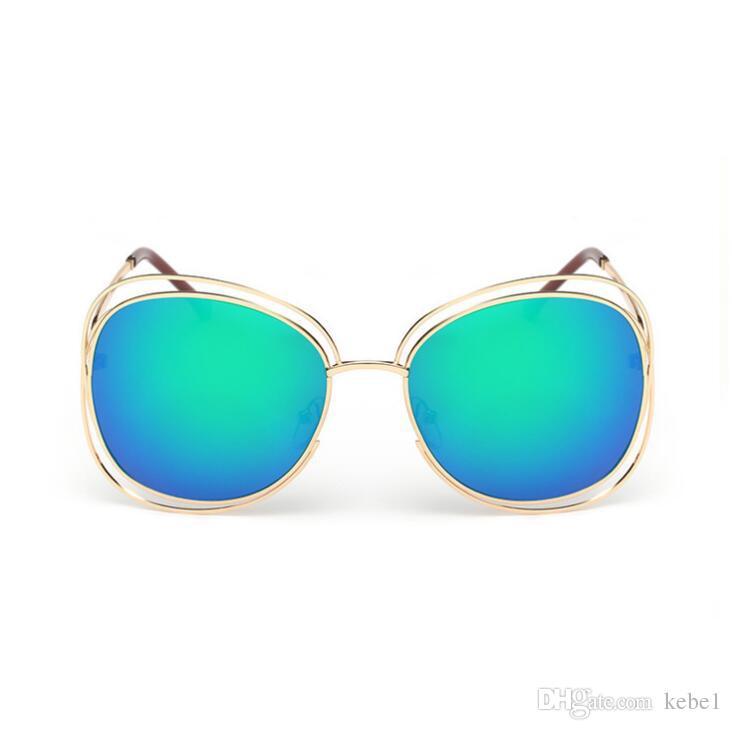 Gli occhiali da sole ovali oversize di modo delle donne progettano il grande vetri UV400 della lente della lente della struttura della lega del progettista di marca Trasporto libero