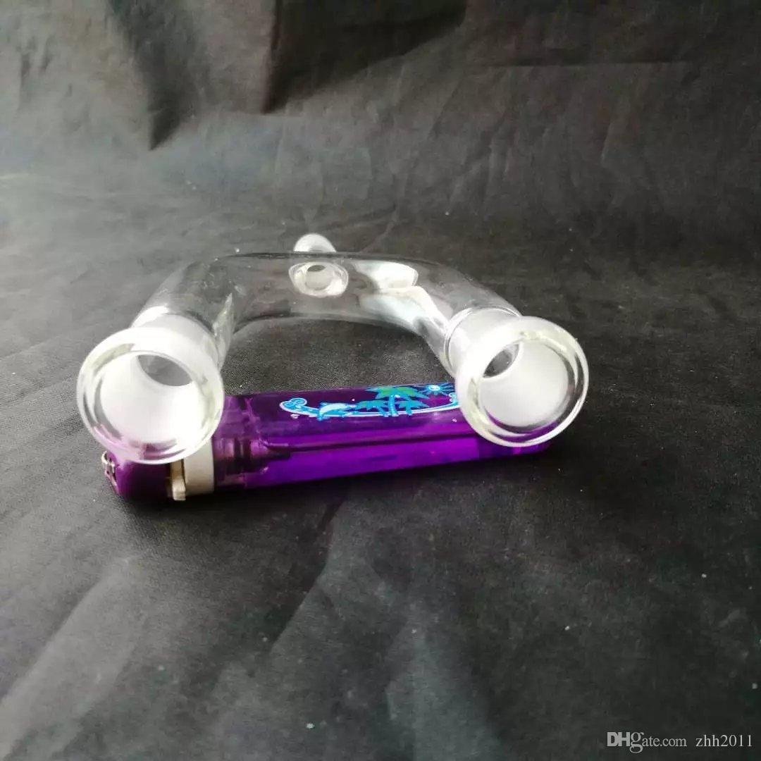 U-tipo de vidrio adaptador de bongs de vidrio accesorios, pipas de fumar de colores las mini multi-colores de mano Tubos Tubos de vidrio Mejor Cuchara