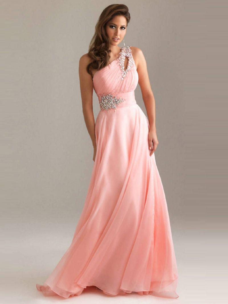Prom Dresses One Shoulder Elegant Silk Chiffon 2016 Vestidos De ...