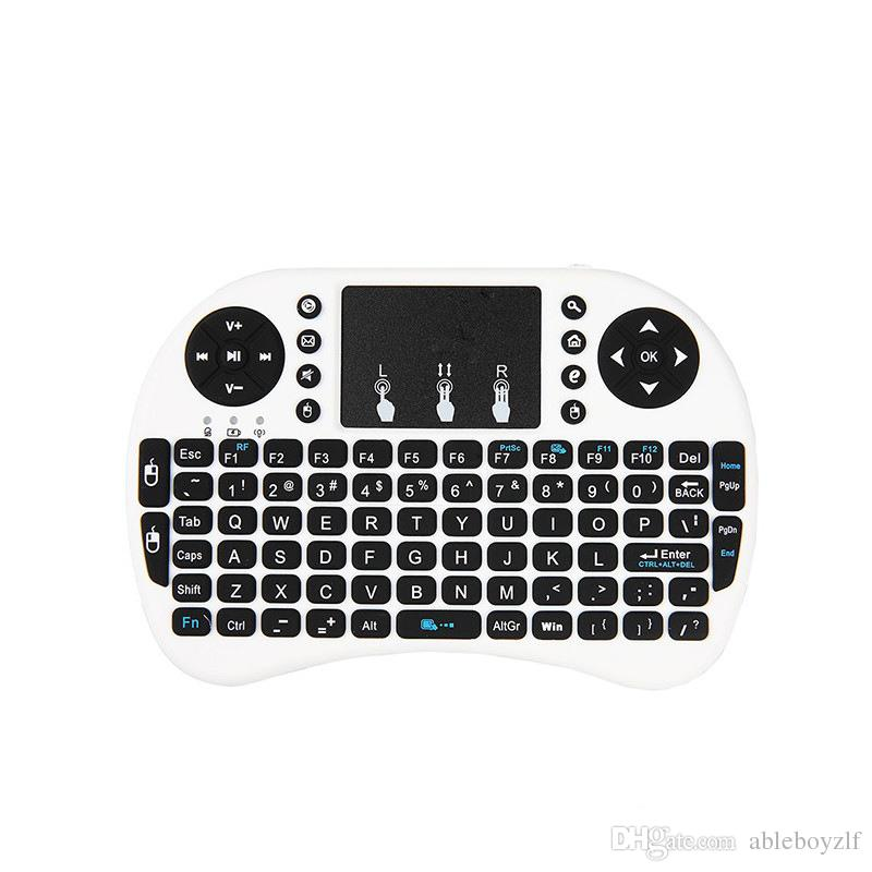 RII I8 Fly Air Mouse sans fil 2.4G Backlit Touchpad Clavier Souris Air multifonction pour PC Pad Android TV Box MXQ V88 X96