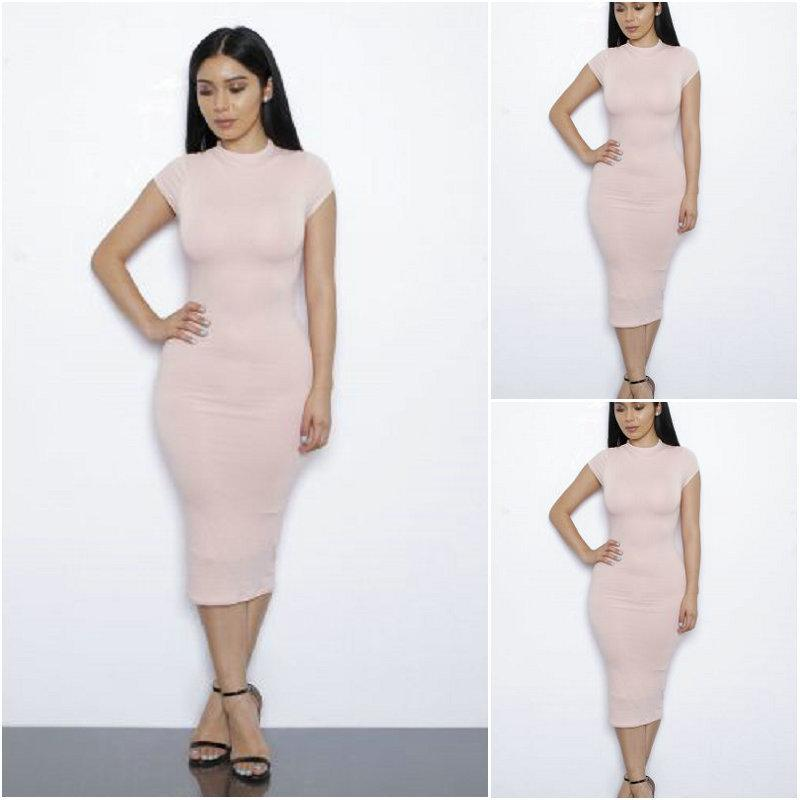 2016 News Style in Europe and the European Dress Summer Milk Silk Bandage Dress Package Hip Skirt Girl