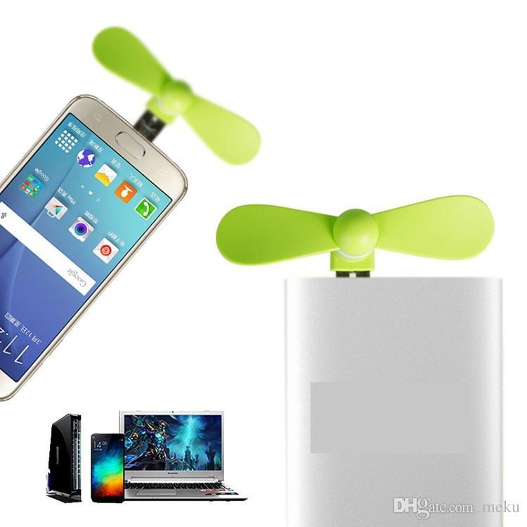 Pocket Fans USB Gadget Portátil Verano Micro USB Ventilador Mini Ventilador Universal Para Xiaomi Android Teléfonos OTG Banco de potencia portátil