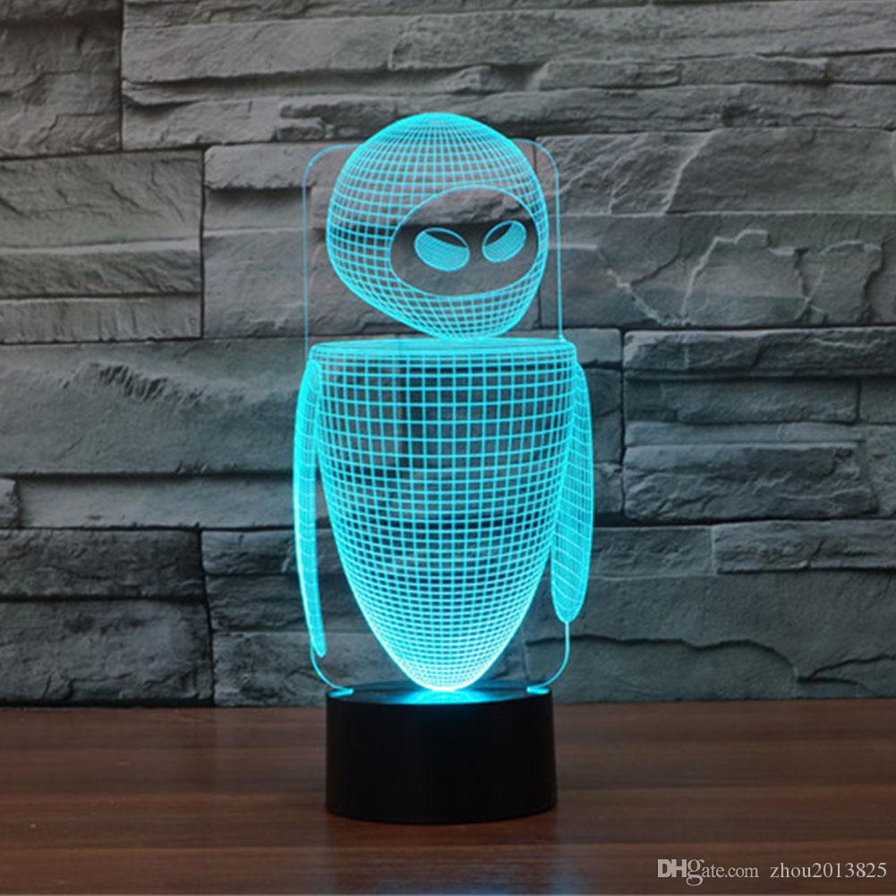 Led Table Lamps 3d Ladybug Illusion Led Night Light 7colors Changing Acrylic Insect Touch Mood Lamp Novelty Lighting For Kids Bedroom