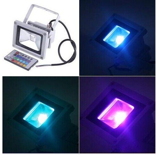 Водонепроницаемый 10W RGB светодиодный прожектор + пульт дистанционного управления L003