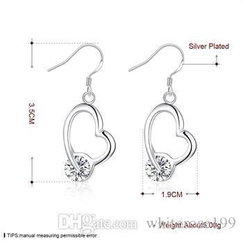 Partihandel - lägsta pris julklapp 925 sterling silver mode örhängen E54