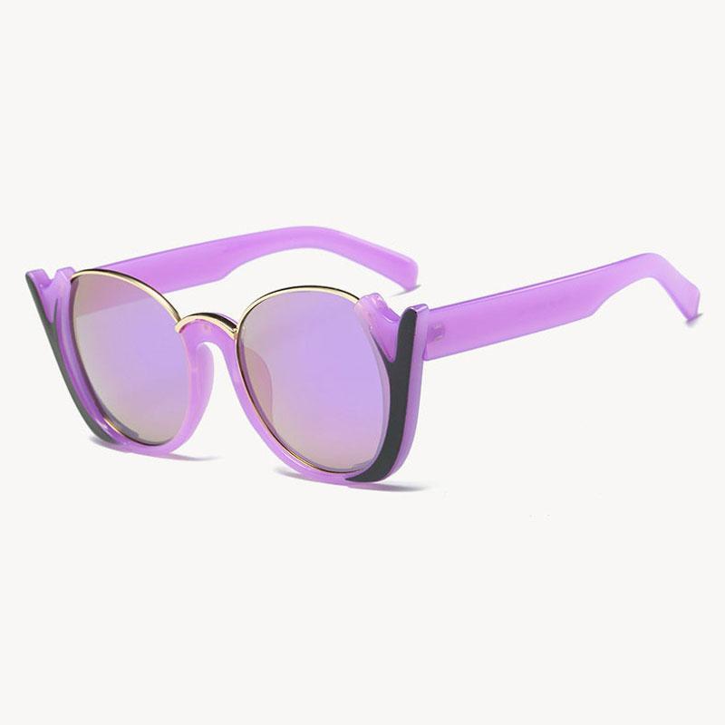 0be4815b42 Compre Moda Vintage Cat Eye Sun Glasses Mujeres Uv400 Calidad Lunette  Mujeres De Gran Tamaño Marco Hlaf Gafas De Sol Mujer Diseñador De Marca  Anteojos A ...