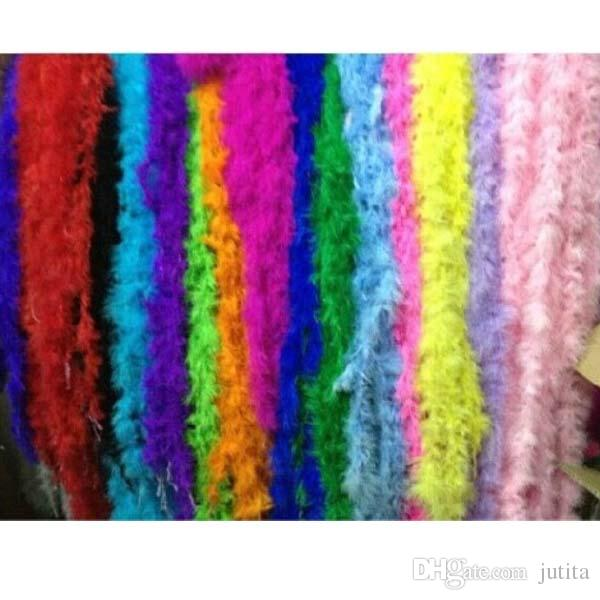 10pcs/lot 2 meter Feather Strip Wedding Marabou Feather Boa Party Supplies Accessories Decor Event Gift