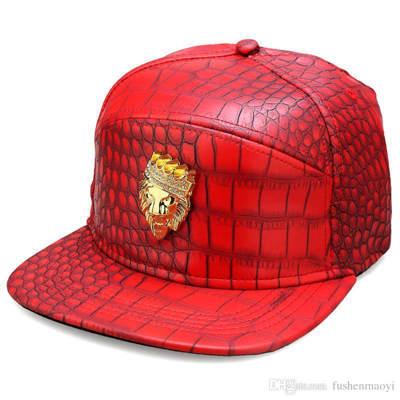 Cappelli di hip-hop di distintivo del distintivo di modo Cappelli di sport dei cappelli di cuoio degli uomini delle cappelli di sport delle donne misura i cappelli di snapback