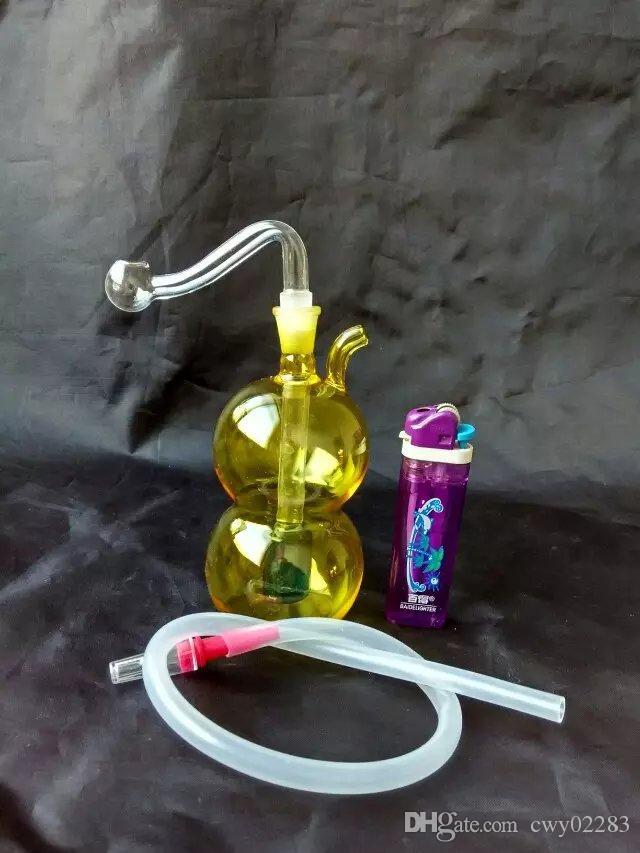 새로운 조롱박 물 담뱃대, 도매 유리 봉 액세서리, 유리 물 파이프 흡연, 무료 배송