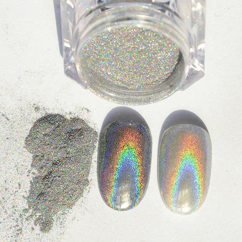 2017 New 1 Bottle Mini Hexagon Shape Laser Shining Nail: Wholesale 1g Colorful Nail Holographic Dust Mermaid Trend