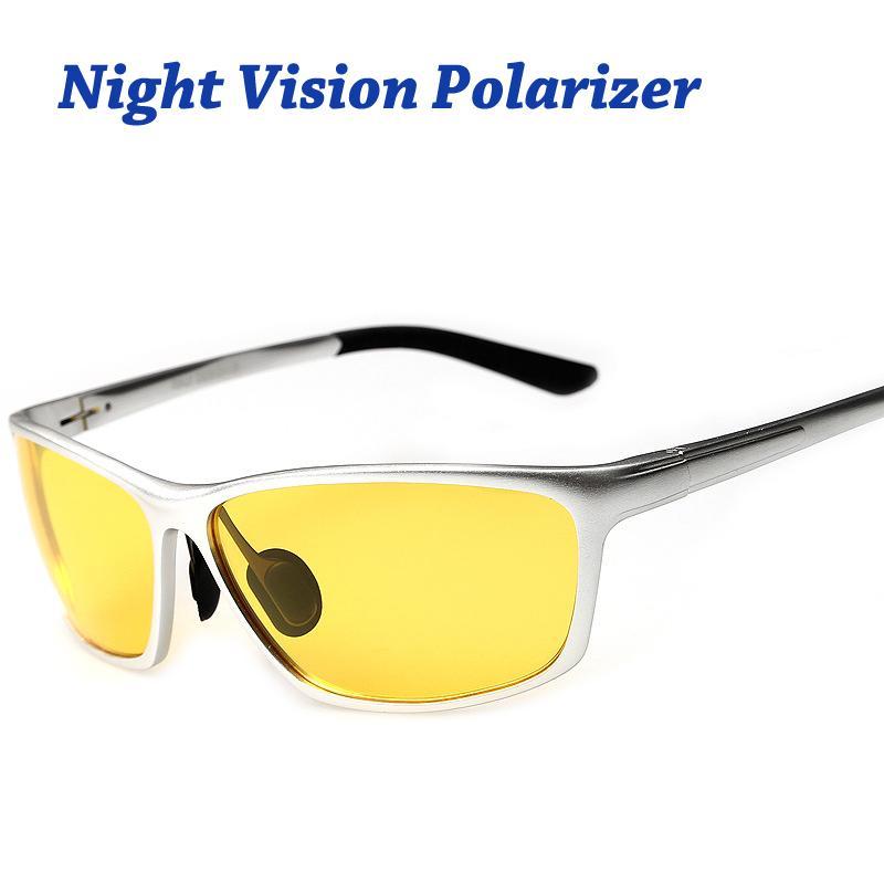 40470bc1f0 Night Vision Glasses For Headlight Polarized Driving Sunglasses Yellow Lens  UV400 Protection Night Eyewear For Drivers Prescription Sunglasses Online  Black ...