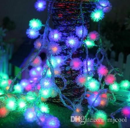 Lumière de vacances 10 M 80 Led 110v ou 220 V Imperméable Extérieur LED Jeu de lumière de Noël Décoration de fête de Noël
