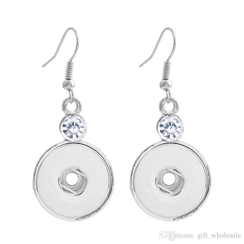 Noosa Chunk Ginger Snaps Jewelry Earrings 18mm Ginger Snap Button Earrings Trend DIY Jewelry Interchangeable Earrings