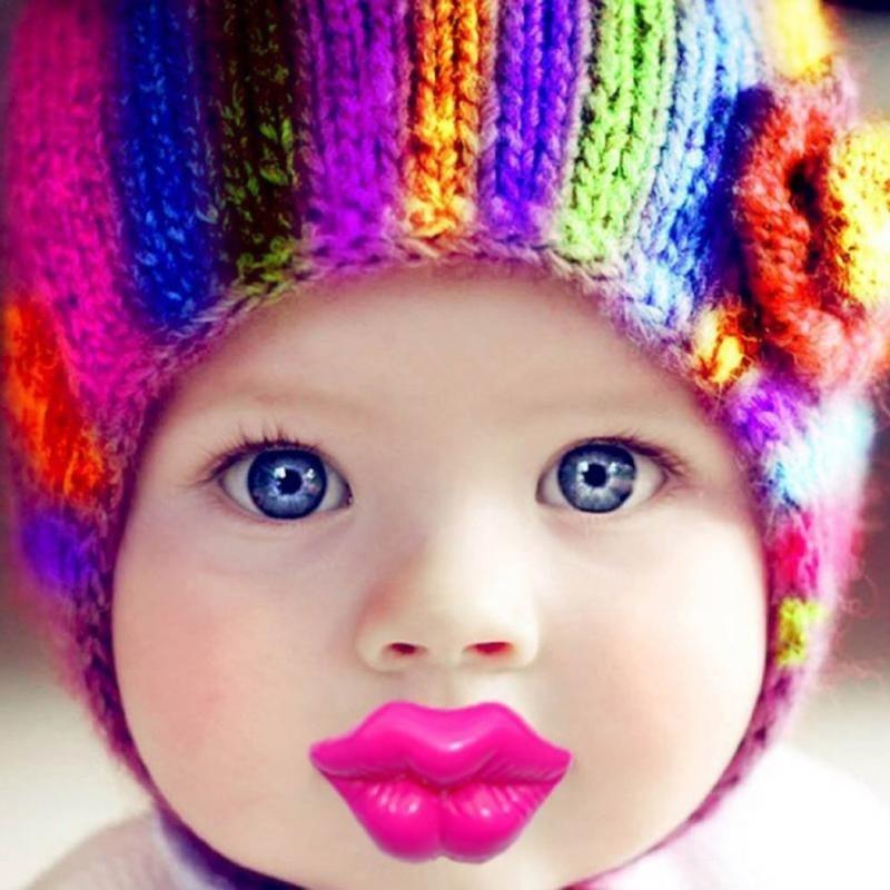 Bébé garçon fille drôle infantile tétine orthodontique parfait dummy tétines sucettes