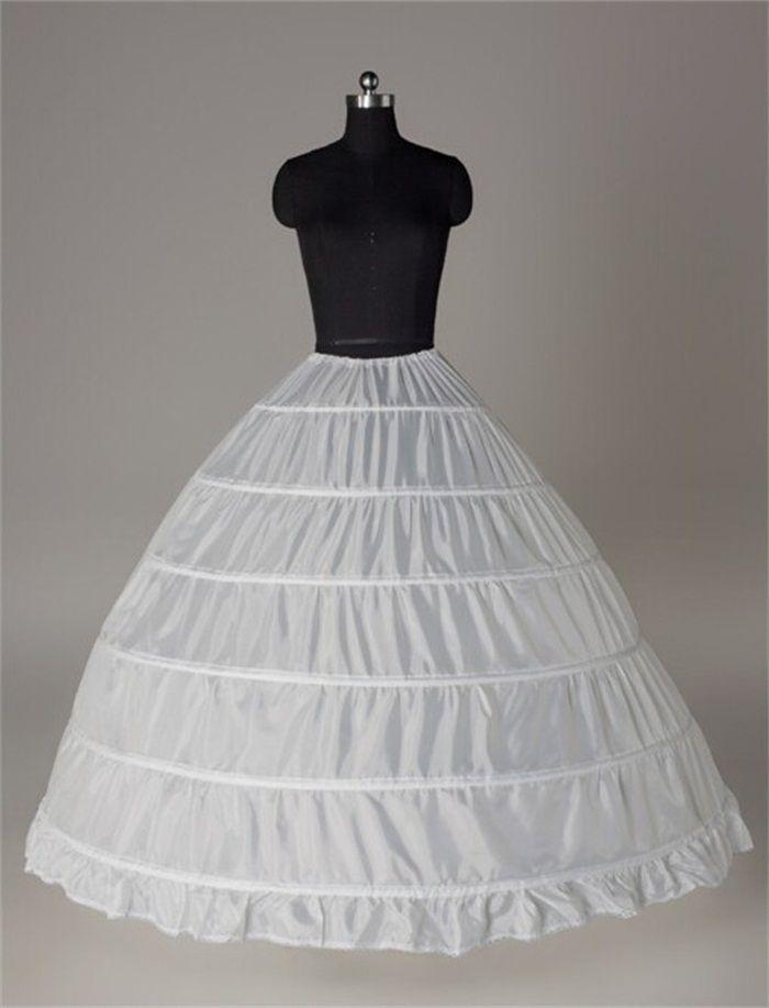 Robe De Bal Grand Jupons 2017 Nouveau Noir Blanc 6 cerceaux Mariée Jupe Culotte Robe De Soirée Crinoline Plus Taille Accessoires De Mariage