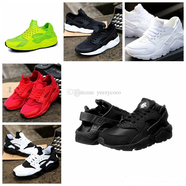 Brand New 2018 Beluga Olive Green Copper Black Air Huarache IV Running Shoes  For Men Women 15a77458c