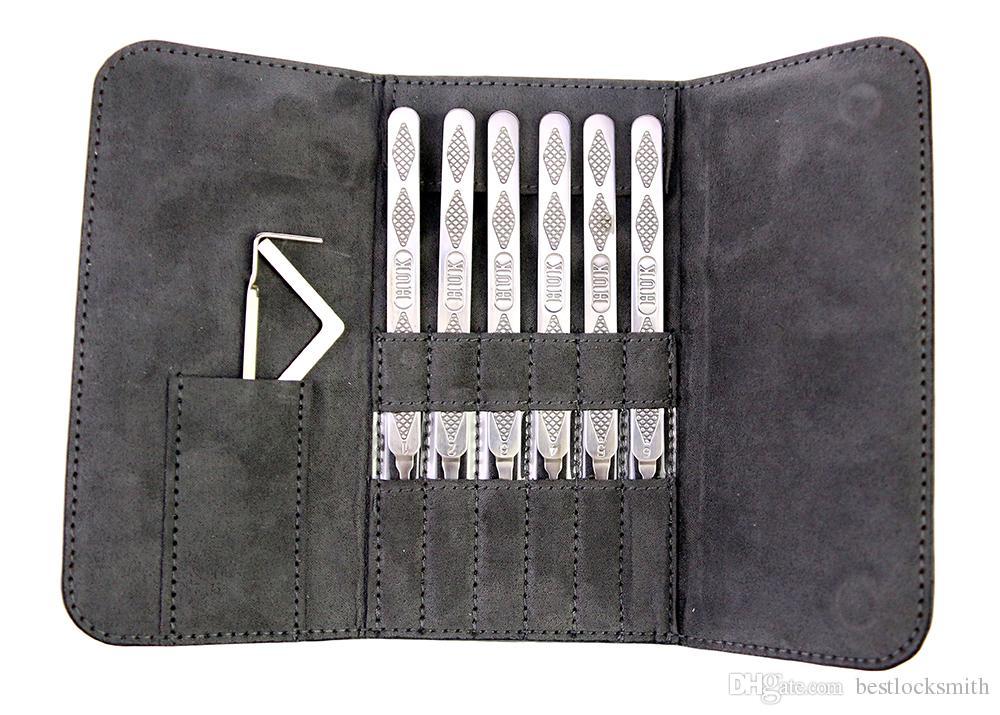 새로운 도착 HUK 스테인리스 슈퍼 픽크 세트 자물쇠 도구 자물쇠 도구 Lockpick 자물쇠 따기 세트