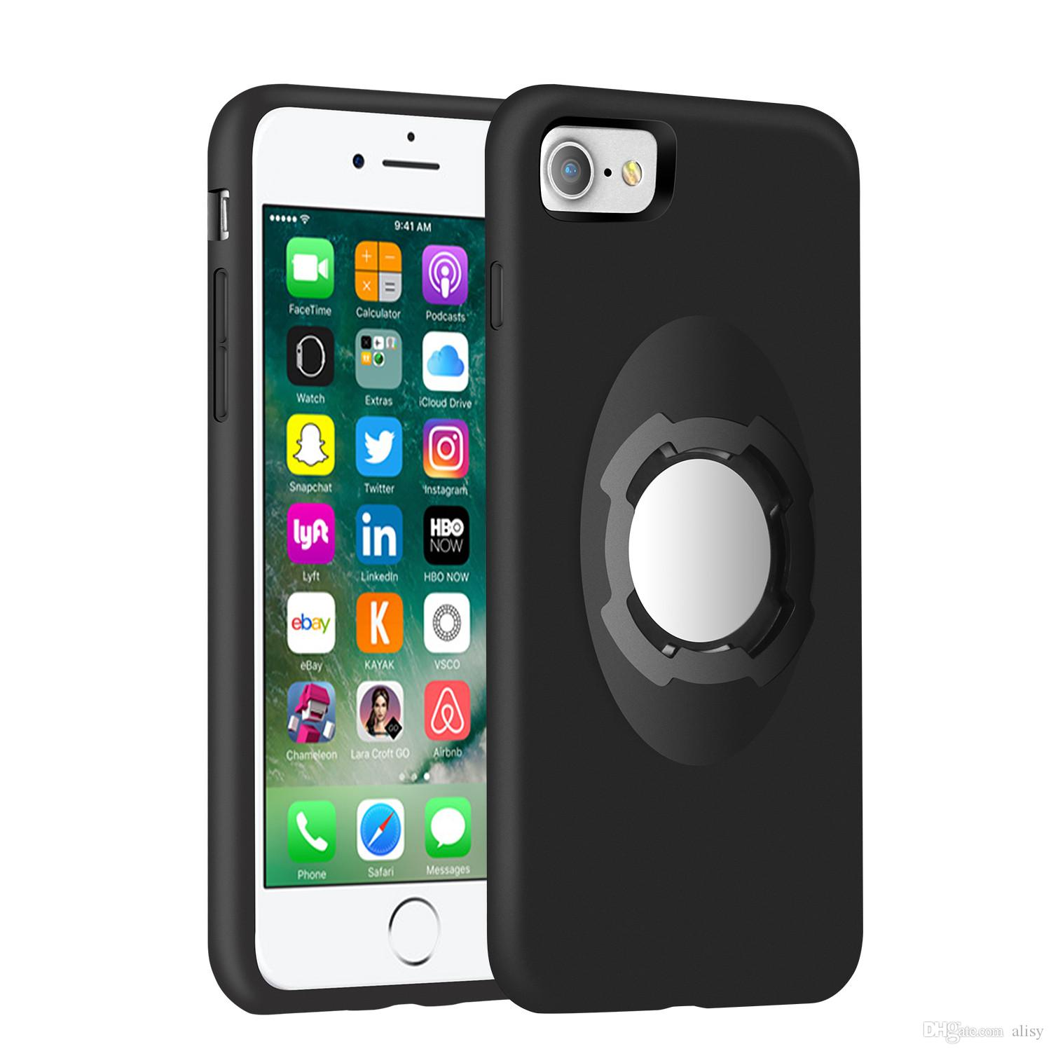 Shockproof Magnetic Case for iPhone 7 Plus with Bike Phone Mount Quick Release Bicycle Holder Car Holder