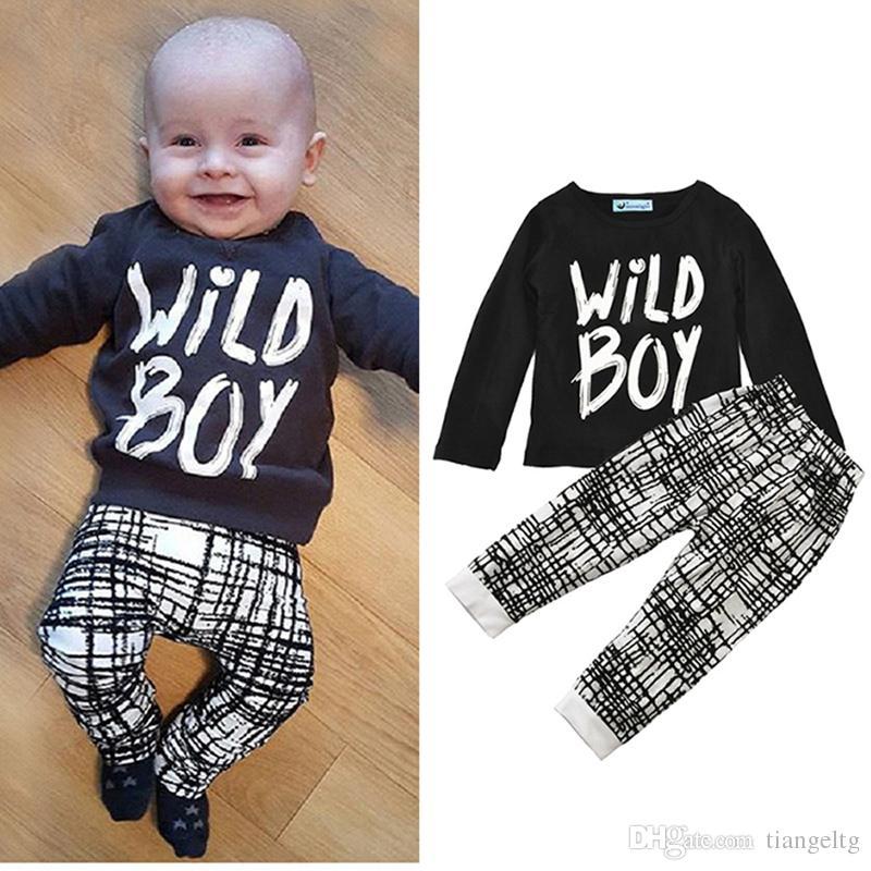 4bdc2a03d Boys Girls Clothing Sets Wild Boy Print Winter Autumn Spring Casual ...