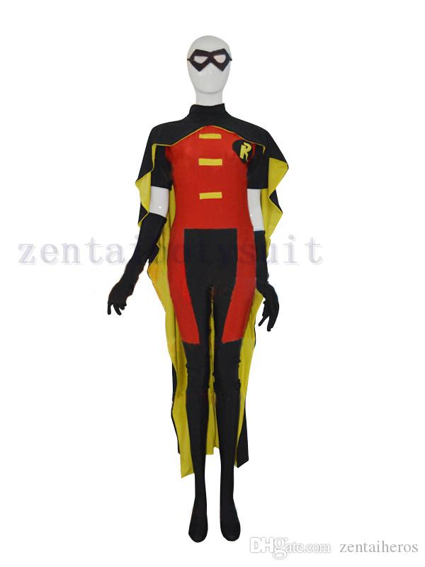Red Robin Strong Mens' Superhero Costume Cosplay Halloween party Suit