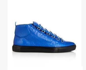 venta al por mayor con Box Arena Sneaker Shoes cuero genuino Casual hombres zapatillas high top Vestido de fiesta Kanye West Zapatillas zapatos blanco, negro, azul,