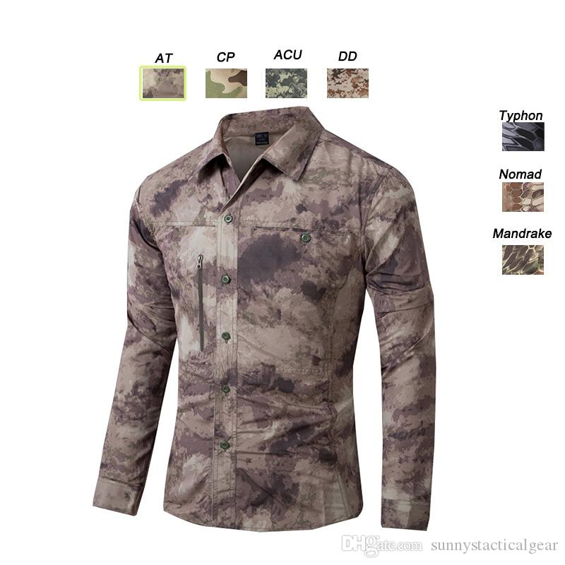 Outdoor Hunting Shooting Shirt Battle Dress Uniform Tactical Camo BDU Army Combat Clothing Quick Dry Camouflage Shirt SO05-109