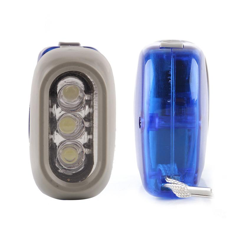 Outdoor 3 LED Hand Press Flashlight No Battery Wind Up Crank Dynamo Flashlight Light Torch Camping Portable Flash Light 3004017