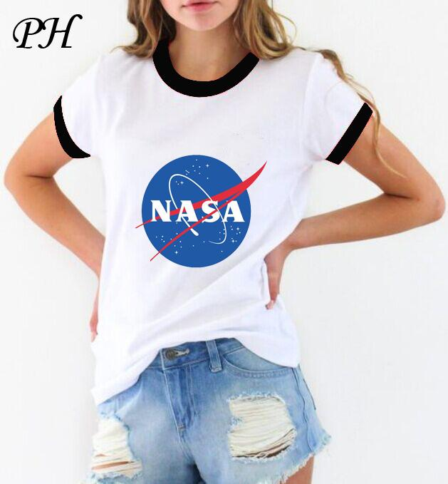 wholesale tshirt women 2016 summer women 39 s nasa t shirt harajuku custom poleras de mujer. Black Bedroom Furniture Sets. Home Design Ideas