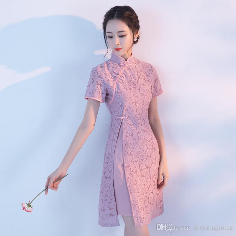 2018 Modern Chinese Traditional Wedding Dress Vintage Improved