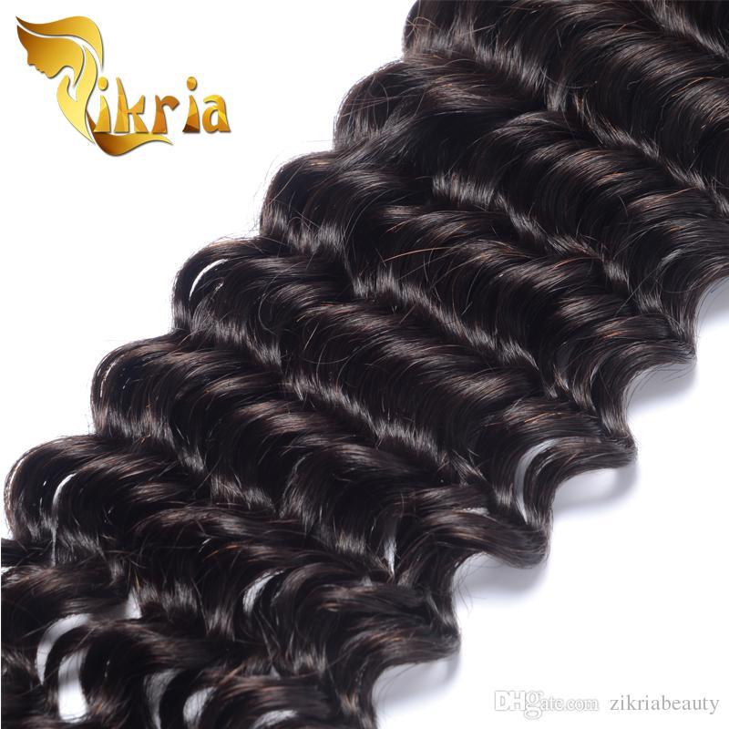 Vague profonde de cheveux humains trame 100% de cheveux noirs vierges