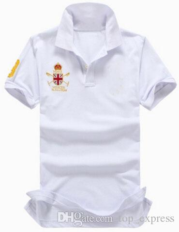 Top Express Mercer Polo Team Britain Flag Polo shirt men Summer casual camisa cotton solid color European style business polos White Red