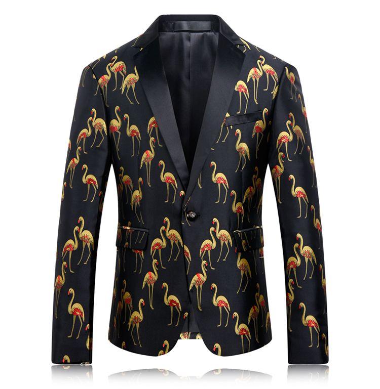 costume masculin mariage blazer prom imprimé caractère affaires décontracté mince européen bonne veste pour chanteur danseur étoile Noël