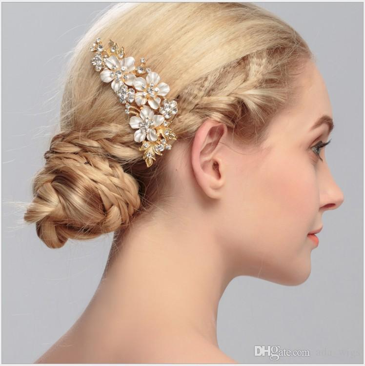 New Alloymetal Wedding Bridal Prom Women Haircomb Silver Plated