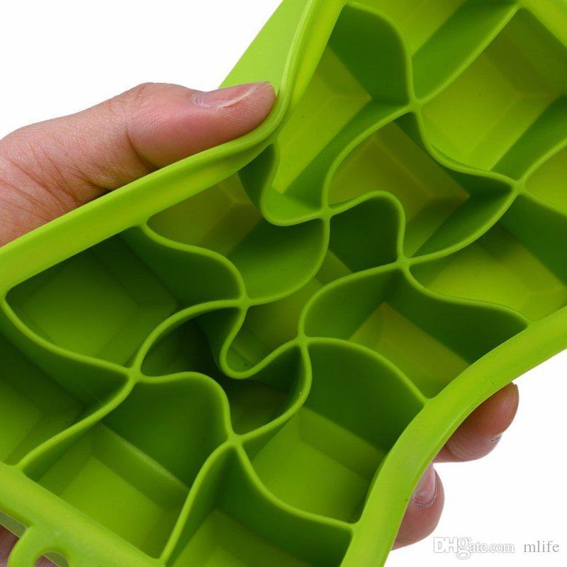 Diy criativo big ice cube mold forma quadrada de silicone ice milk shake bandeja de frutas ice cube maker bar cozinha acessórios 5 cores