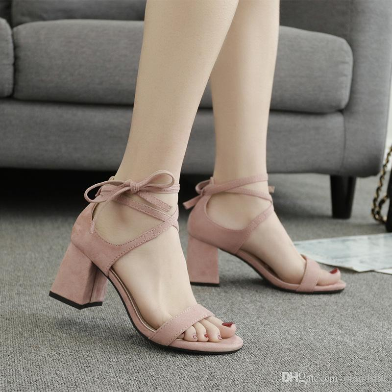 Hot Summer Sandals Lady Dress Shoes Women Pumps Heels Suede Open Toe Chunky High  Heels Festival Party Shoes Formal Pumps Sandals W17S018 Silver Sandals Gold  ... bd78a3329773