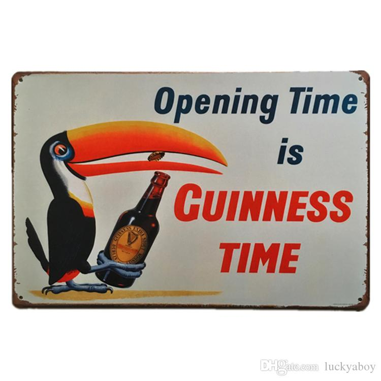 Guinness Time Vintage Rustic Nostalgic Home Decor Bar Pub Hotel Restaurant Coffee Shop home Decorative Metal Iron Retro Tin Sign