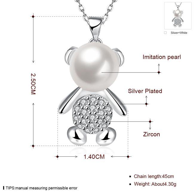Venda quente Urso vela esterlina banhado a prata colar de jóias para as mulheres WN769, agradável 925 de prata Pingente Colares com corrente