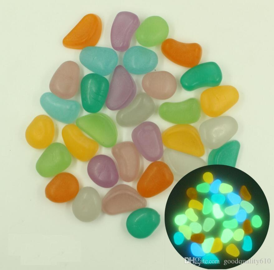 500g Glow In Dark Irregular Stone Luminous Beads For Home Decoration Diy Figurines Miniatures Garden Ornaments