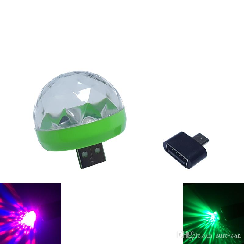 3w DC 5V Mini RGB USB LED night light stage / микрофон / светодиодная лампа Рождественский свет проектор party decor LED лампа