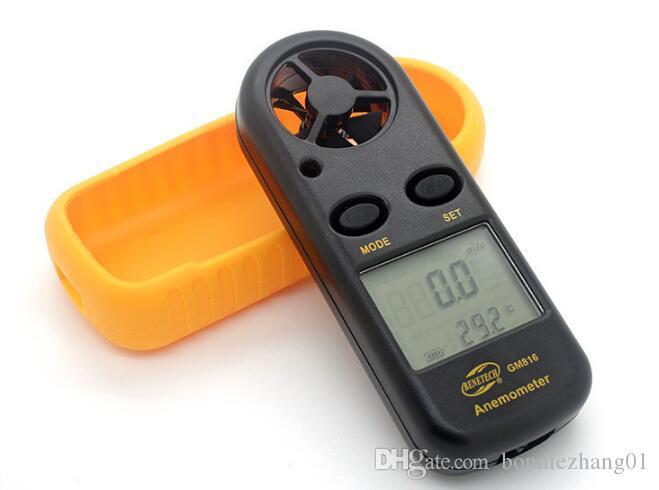 مصغرة الرقمية مقياس شدة الريح سرعة الرياح متر فاحص anemometro مع شاشة lcd الخلفية