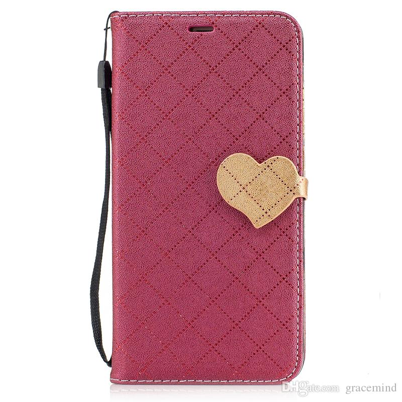 competitive price 5d628 fb040 Leather Flip Cover For Huawei P9 P10 Mate 9 Honor 8 Lite Back Stand Holder  Credit Card Holder Slot Phone Cases