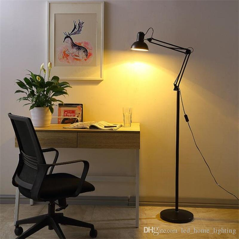 Living Room Floor Lamp American Led Folding Standing Light For Office  Reading Luminaria de mesa Energy Saving Lighting